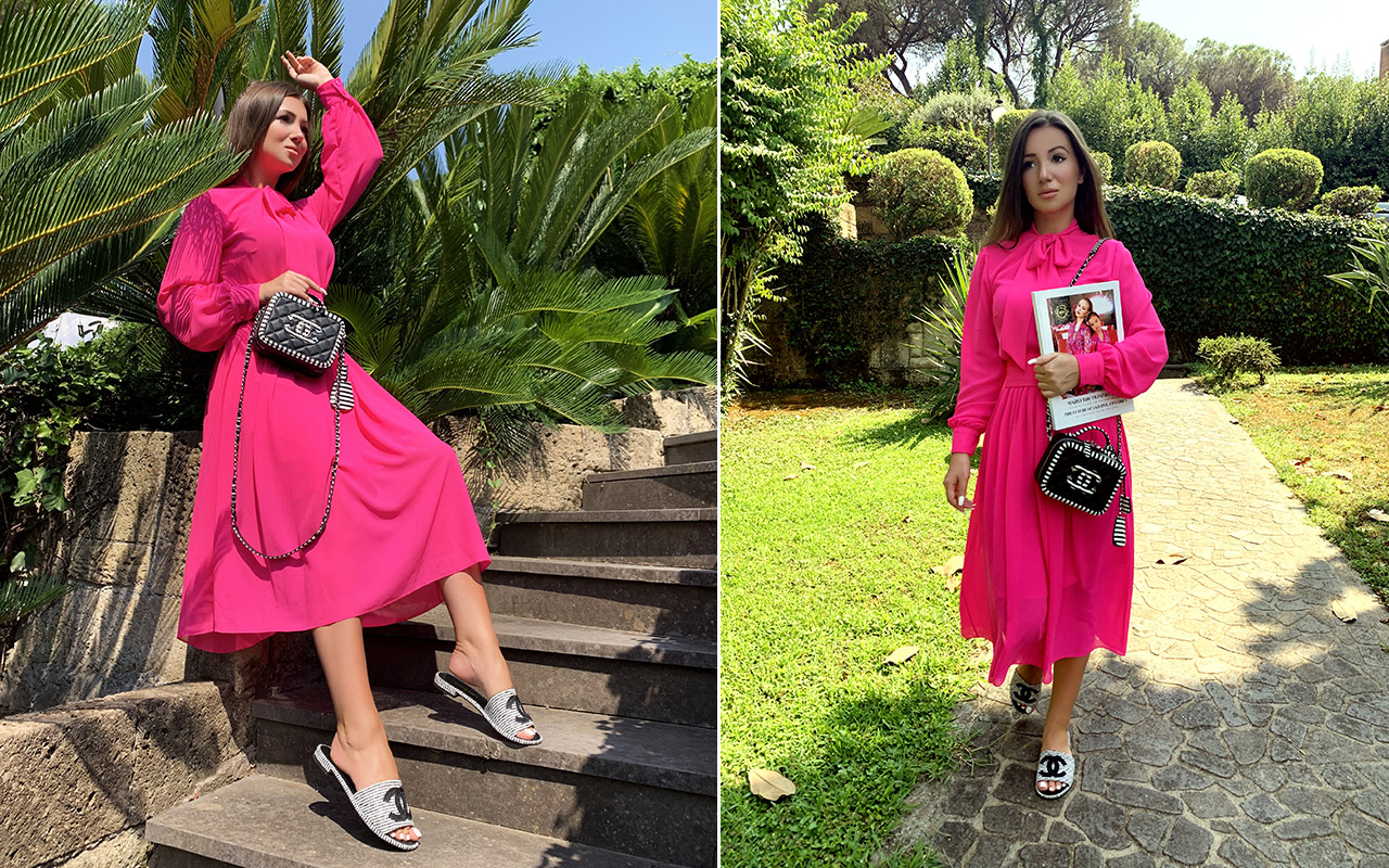Elvira Gavrilova is a women's clothing designer who models her clothing and ready to give a reply to the question, what a woman wants